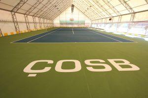 ÇOSB Tenis Kortlarını Yenilendi.