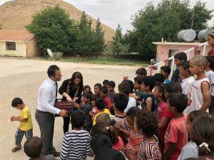 Yürüyen Ayaklar, Soğmatar Köyü İlkokuluna Yardım Elini Uzattı