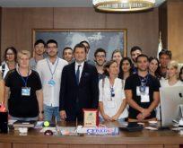 Misafir Gençler Başkanı Ziyaret Etti
